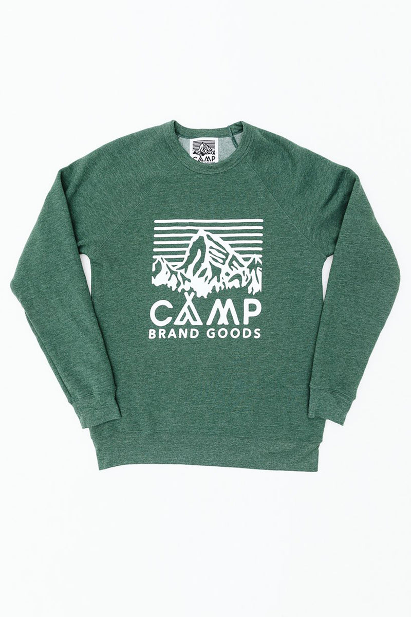 Heritage Logo Crewneck // Emerald Heather