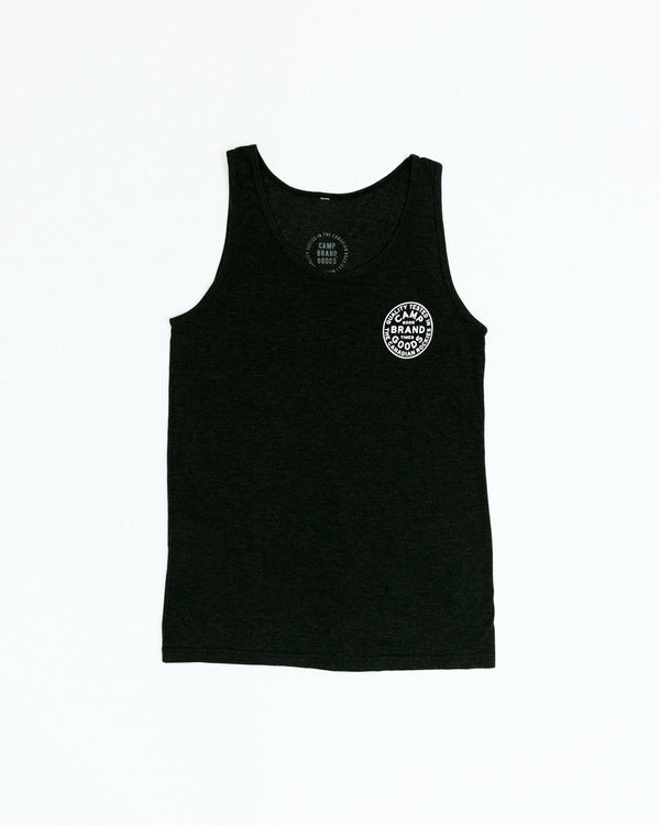 Camp Stamp Tank Top // Tri Black