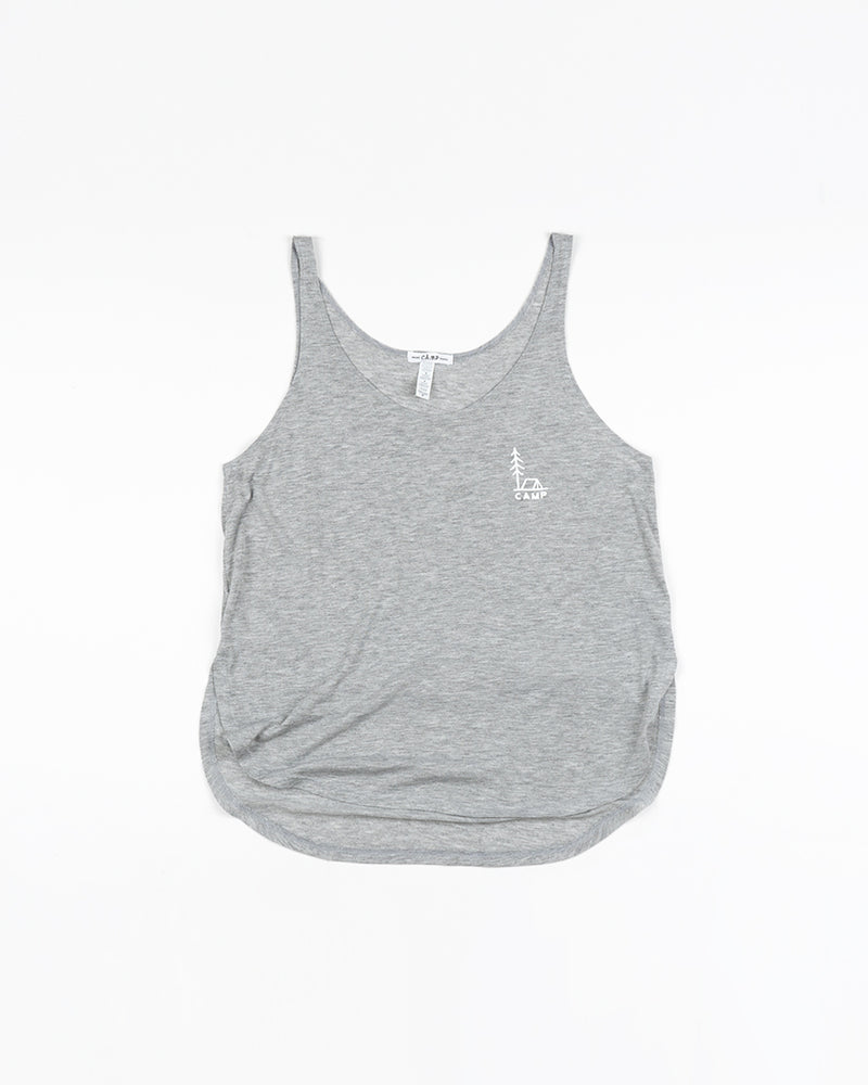 In Tents Slit Tank Top // Athletic Grey