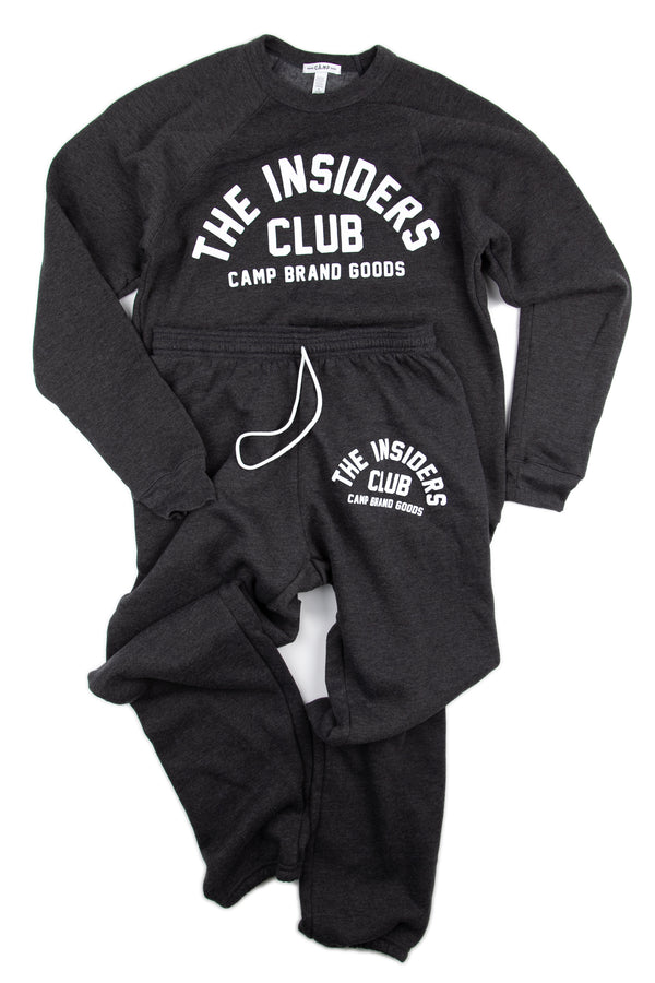 The Insiders Club Sweatsuit // Dark Grey