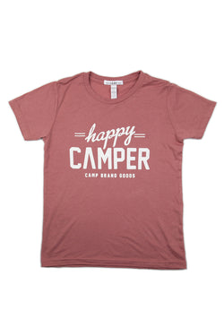 Kids Happy Camper T-Shirt // Mauve