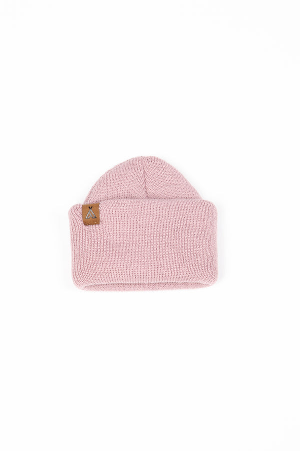 Kids Campers Logo Toque // Blush