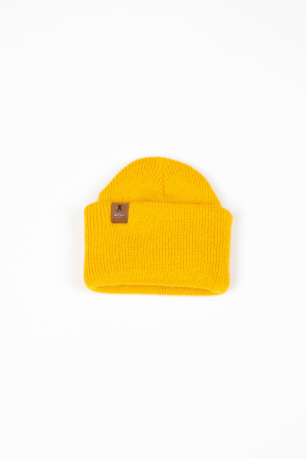 Kids Campers Logo Toque // Mustard