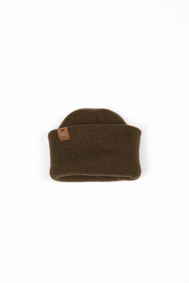 Kids Campers Logo Toque // Olive