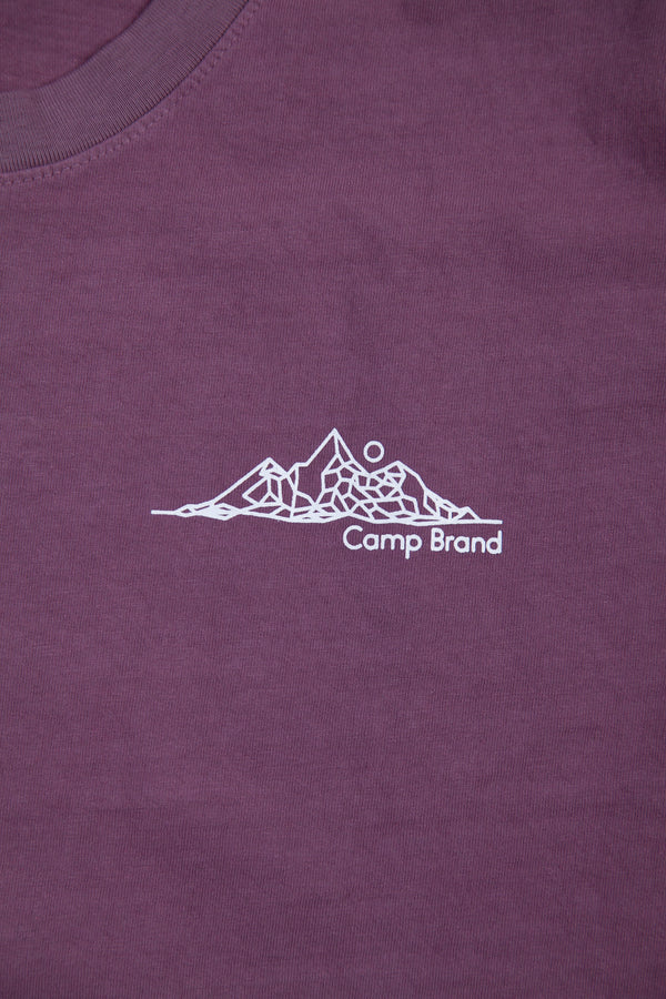 Geomountain T-Shirt // Purple
