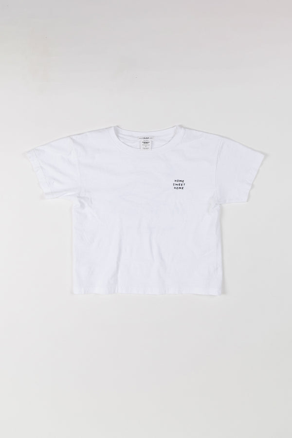 Home Sweet Home Boxy T-Shirt // White