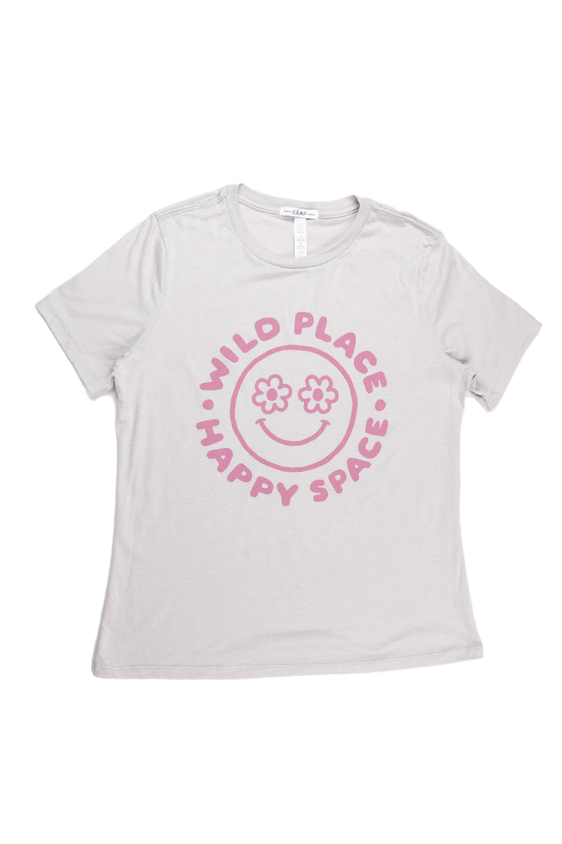 Happy Space Relaxed T-Shirt // Cool Grey