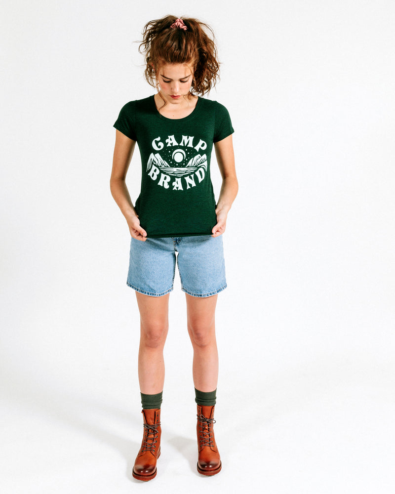GOOD DAY FITTED T-SHIRT // TRI GREEN