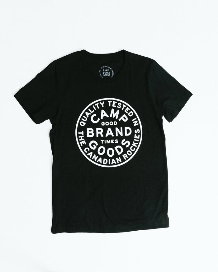 CAMP STAMP T-SHIRT // BLACK HEATHER