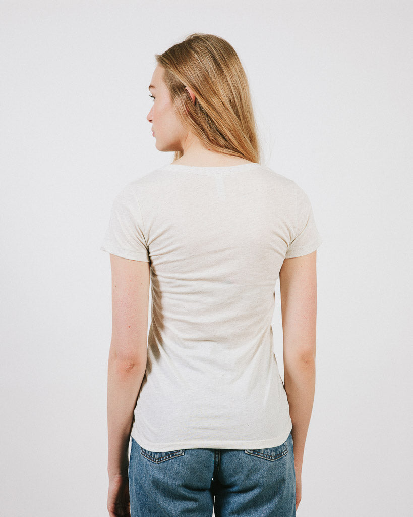 HAPPY CAMPER  FITTED T-SHIRT // TRI OAT