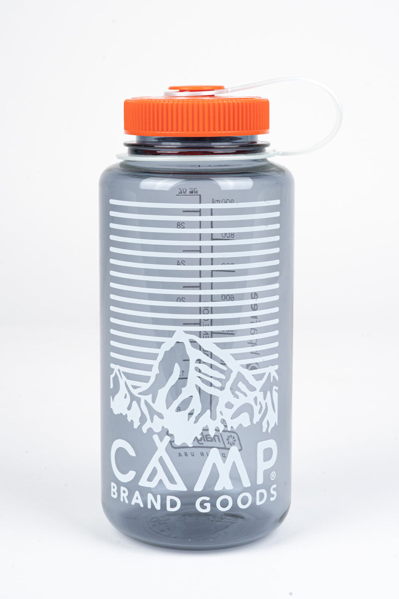 HERITAGE LOGO 32 OZ WATER BOTTLE	- GREY
