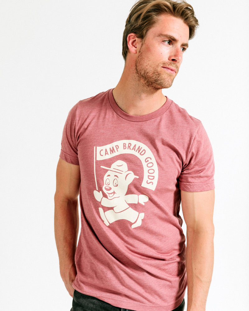 RANGER T-SHIRT // MAUVE HEATHER