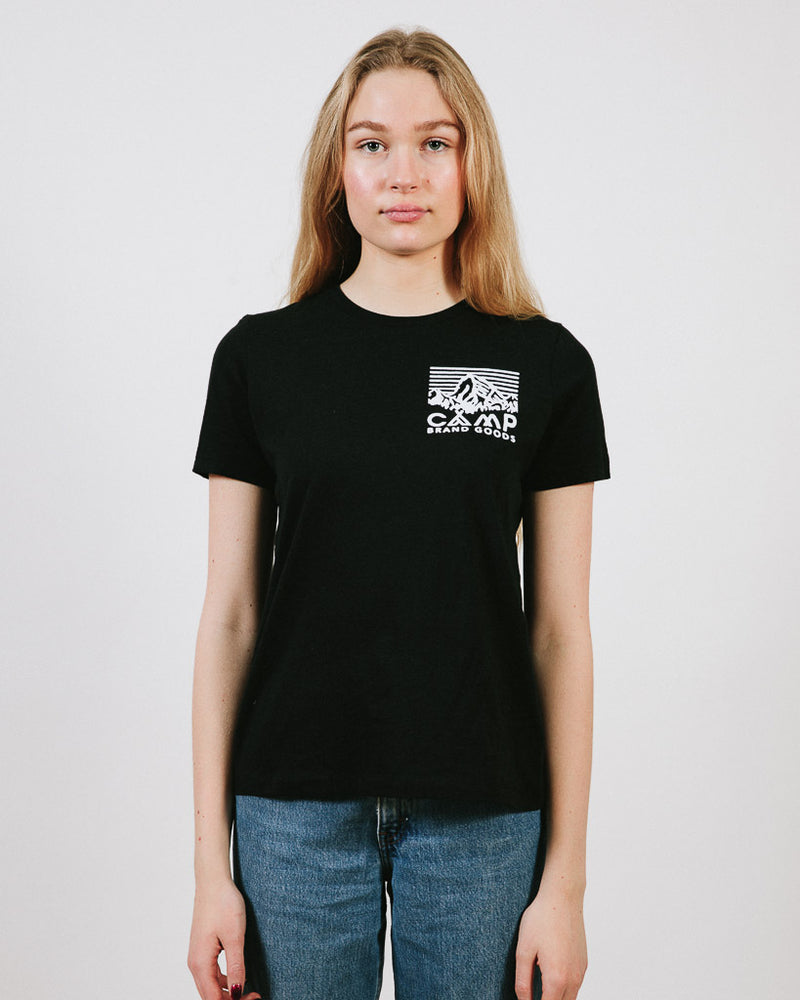 HERITAGE LOGO RELAXED T-SHIRT // BLACK HEATHER