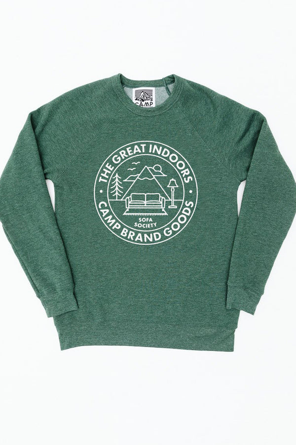 The Great Indoors Sweatshirt // Emerald Heather