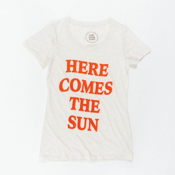 Here Comes The Sun Fitted T-Shirt // Tri Oat