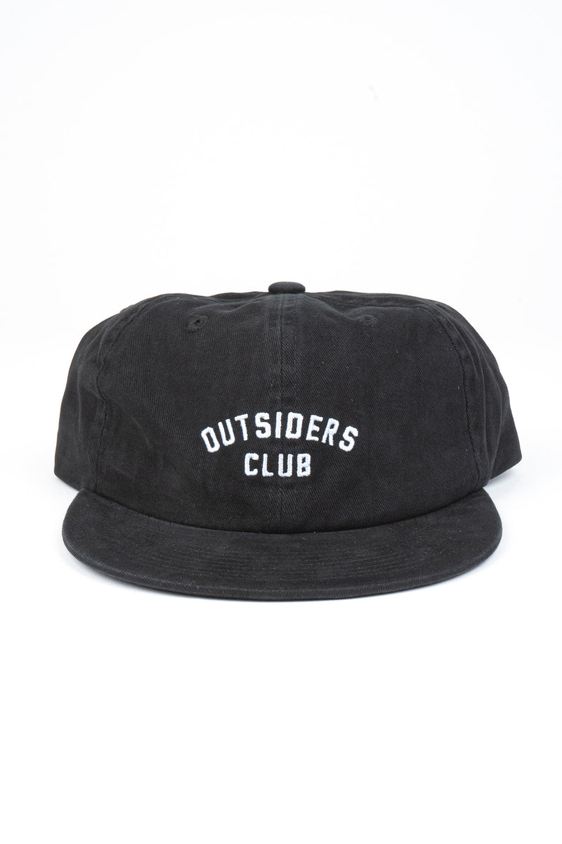 Outsiders Club Unstructured 6 Panel Cap // Black