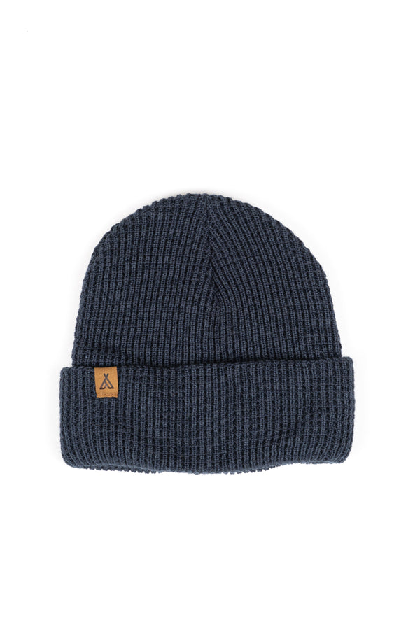 CAMPERS LOGO WAFFLE TOQUE - DEEP BLUE