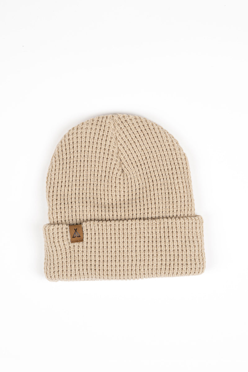 Campers Logo Waffle Toque // Stone