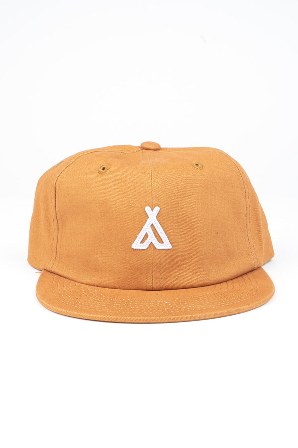 CAMPERS LOGO UNSTRUCTURED 6 PANEL CAP // BUTTERSCOTCH