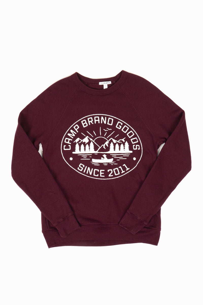 Lake Life Sweatshirt // Maroon