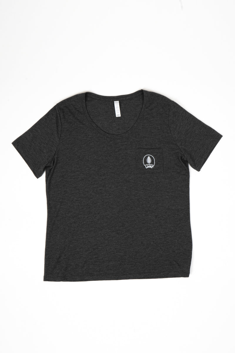 Boreal Loose Pocket T-Shirt // Dark Grey Heather