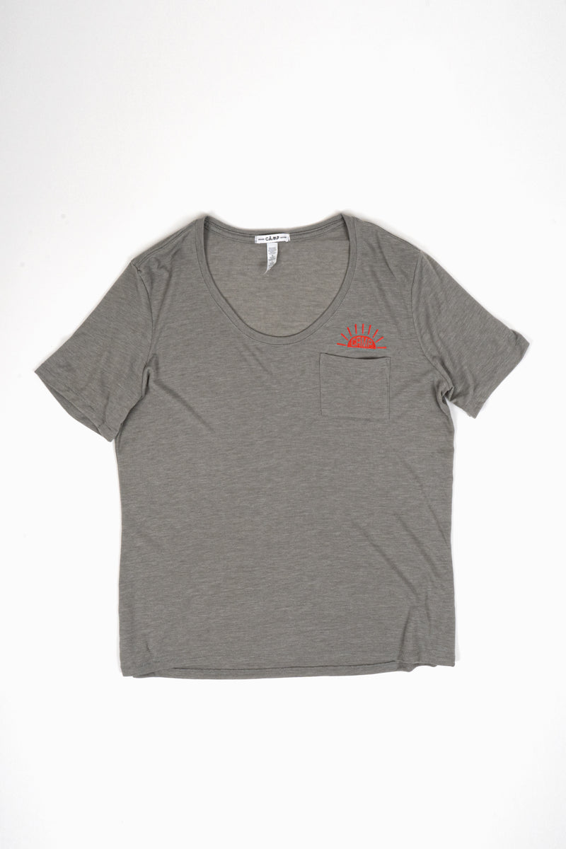 Sunrise Loose Pocket T-Shirt // Stone