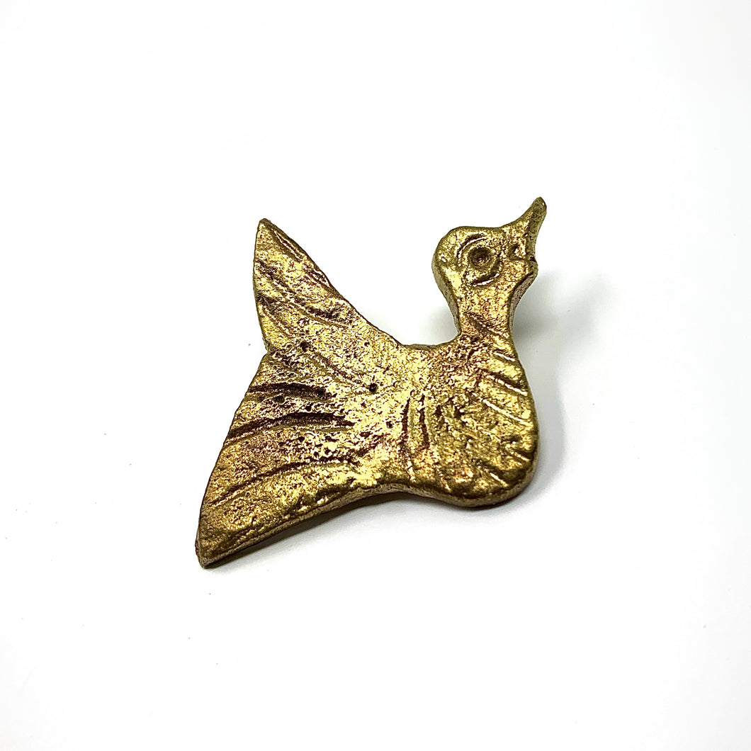 Antique Brass Dove