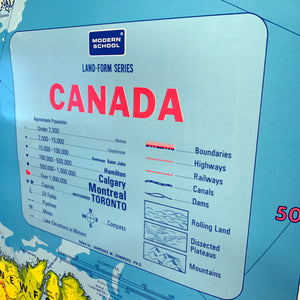 Vintage Schoolhouse Map of Canada