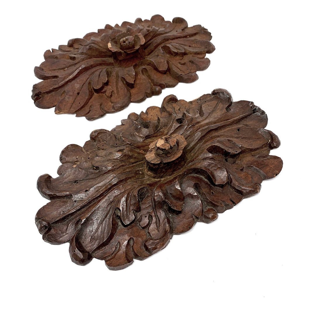 17th Century Handcarved Flowers