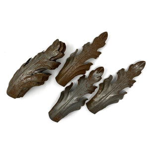 Antique Steel Leaves