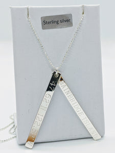 Bainbridge Island Sterling Silver Latitude Necklace