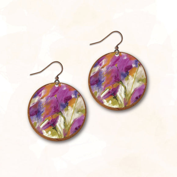 11NRE - Illustrated Light - Abstract Earring