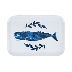 Seaside: Melamine Whale Platter by Twine