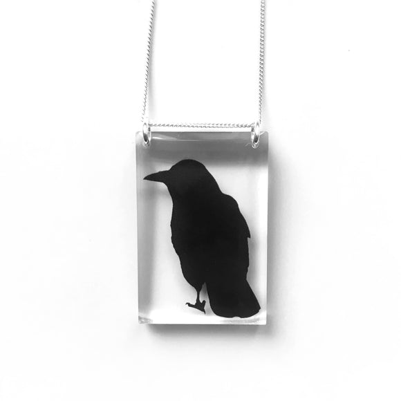 Tall Crow Necklace