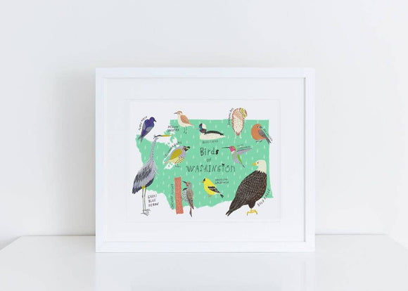 Birds of Washington Art Print
