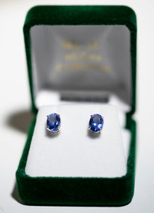 8x6mm Twilight Earring (2ct tw) Oval Solitaire Earring