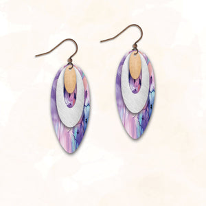 6NDCS - Illustrated Light - Abstract Earring