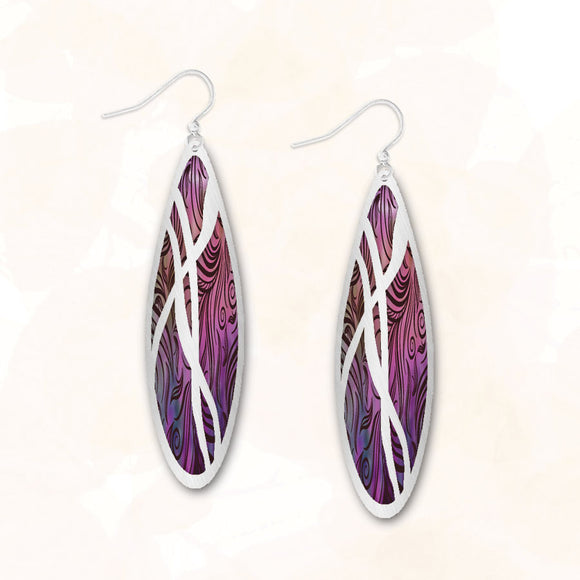 8CGS - Illustrated Light - Abstract Earrings