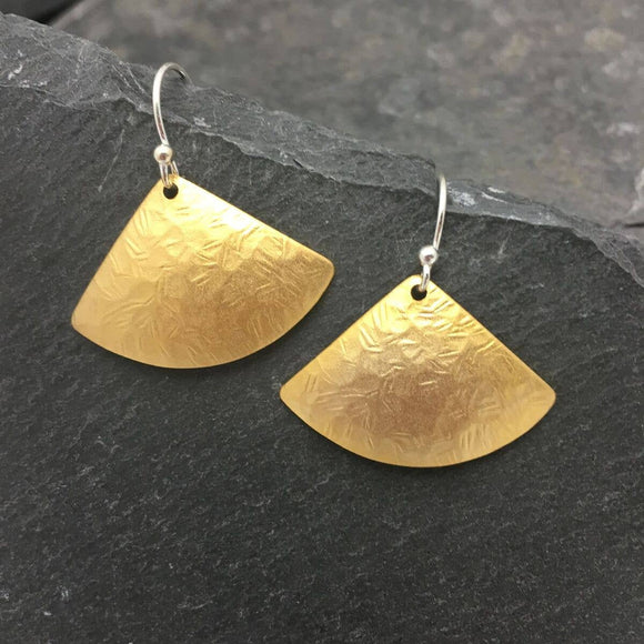 Gold Hammered Domes Earrings