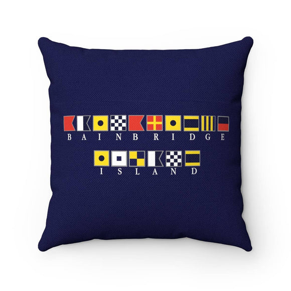 Bainbridge Island International Code Flag Pillow (18x18)