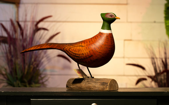 Pheasant Hand Carved Decoy