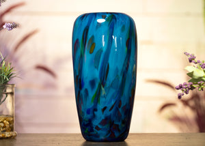 Round Fused Glass Vase