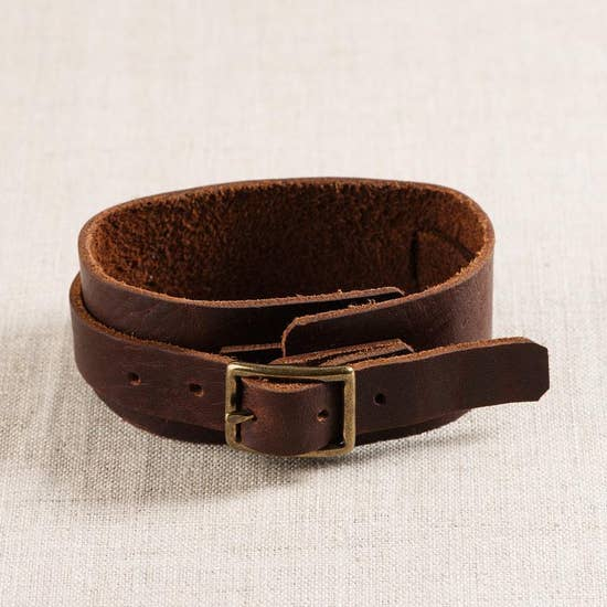 Buckle Leather Cuff