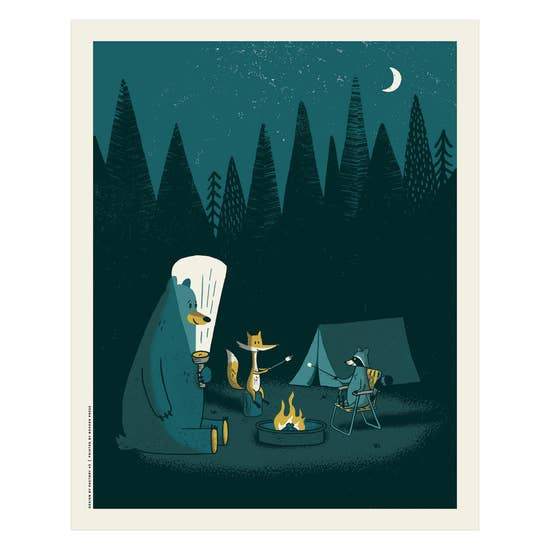 Camping Out Screen Print