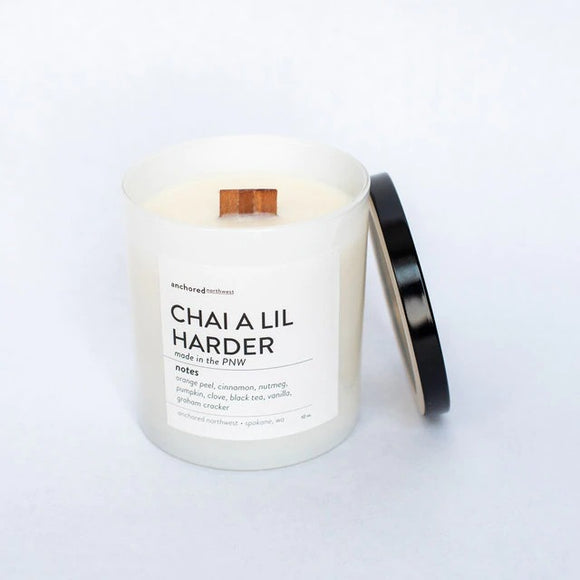 Chai A lil Harder Candle by Anchored Northwest