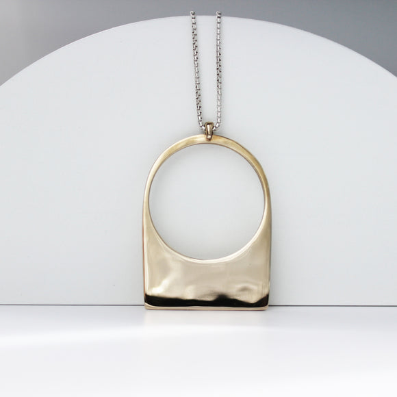 Contour Necklace - Sterling Silver Round