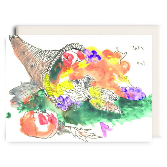 Cornucopia | Thanksgiving Greeting Card