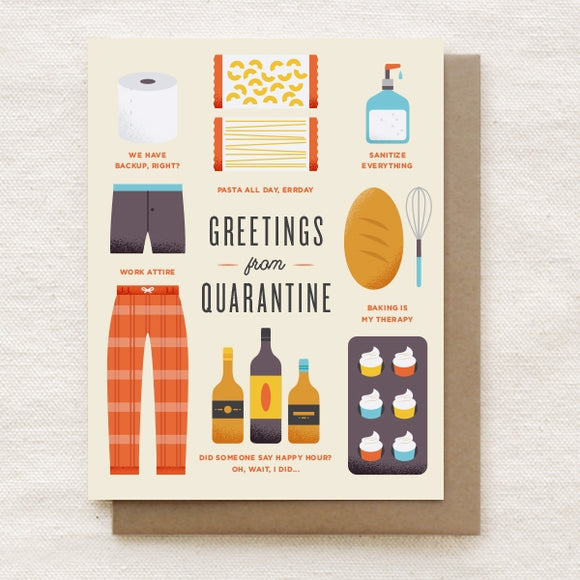 Greetings from Quarantine - Greeting Card