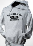 Bainbridge Island, WA Est. 1854 Collegiate Hoodie [Grey]