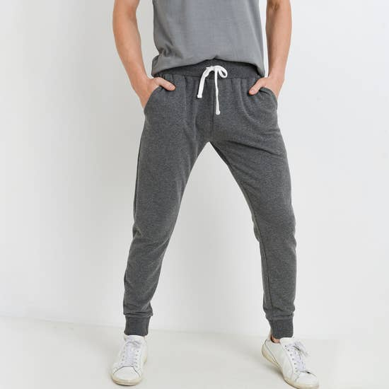Grey Drawstring Terry Joggers